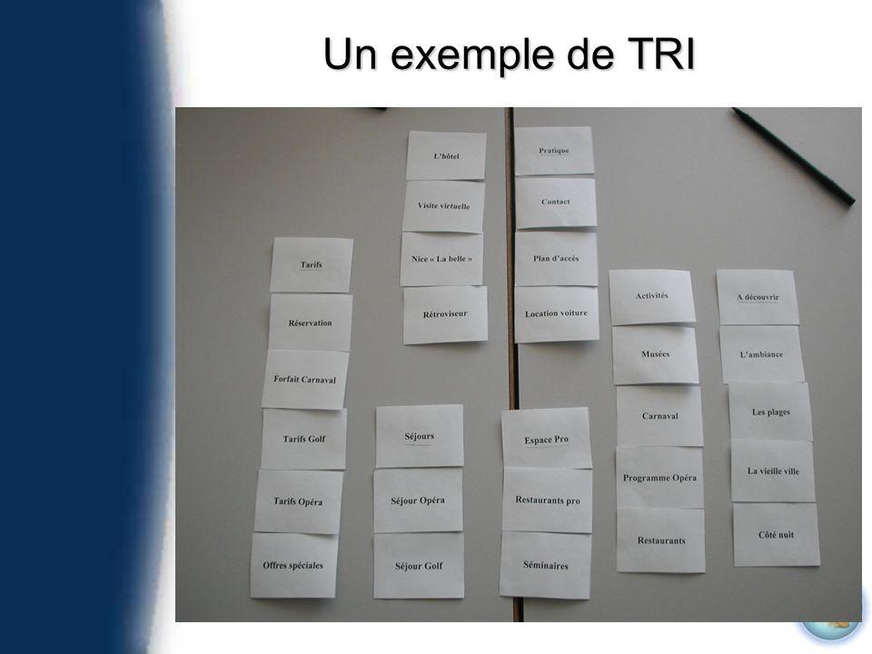 Un exemple de TRI