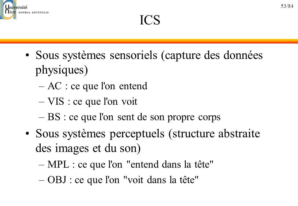 ICS Sous systèmes sensoriels (capture des données physiques)