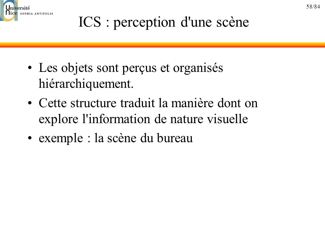 ICS : perception d une scène