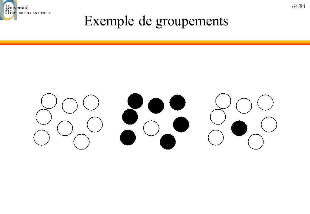 Exemple de groupements