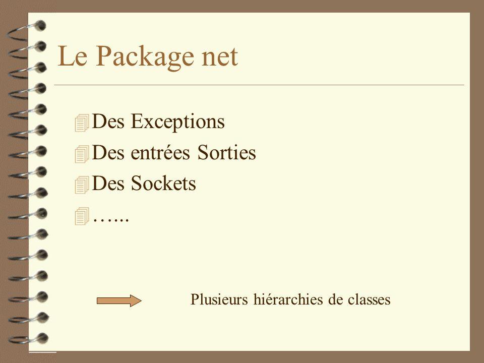 Le Package net Des Exceptions Des entrées Sorties Des Sockets …...