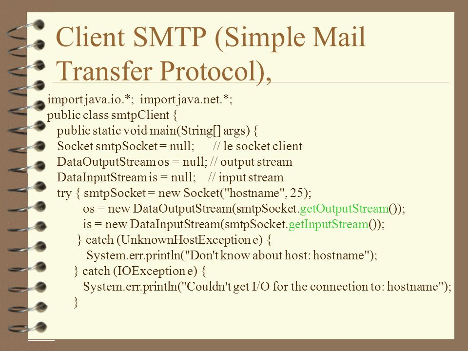 Client SMTP (Simple Mail Transfer Protocol),