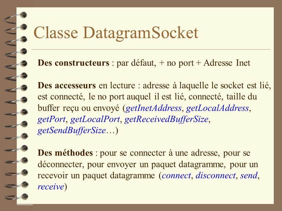 Classe DatagramSocket