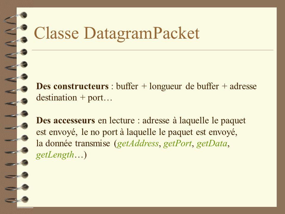 Classe DatagramPacket