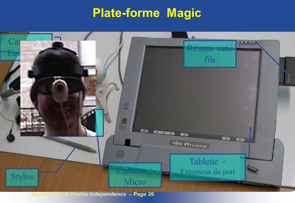 Plate-forme Magic Casque + Ecouteurs Réseau sans fils
