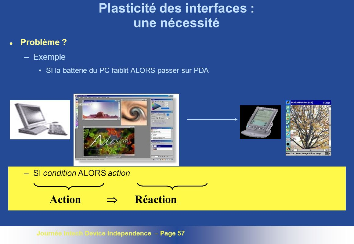Plasticité des interfaces : une nécessité