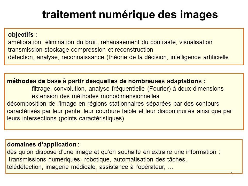 traitement numérique des images