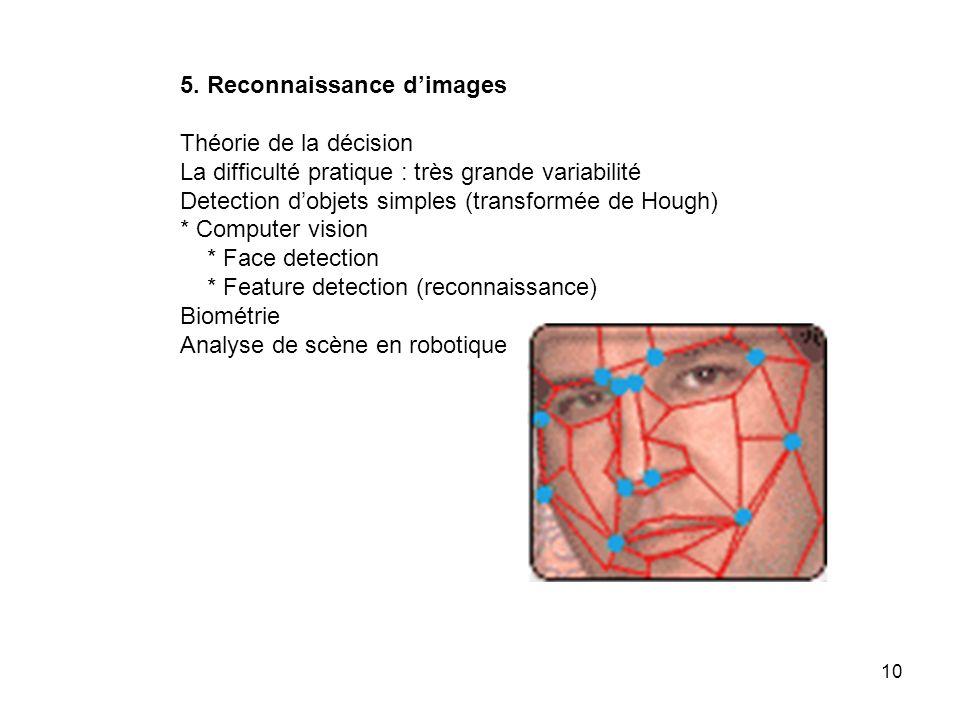 5. Reconnaissance d'images