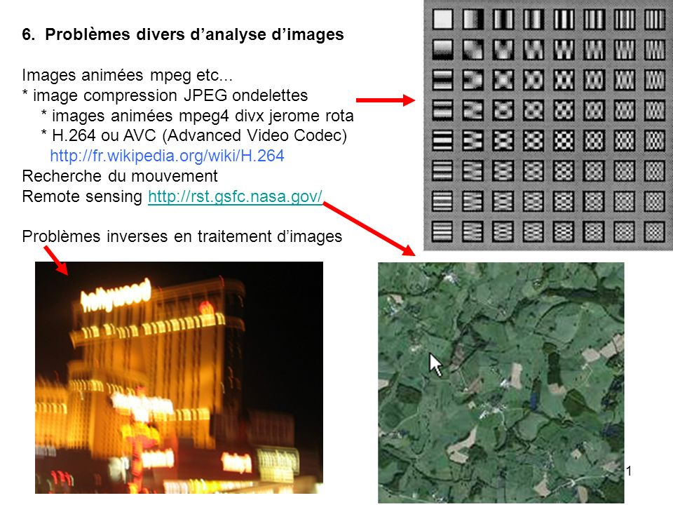 6. Problèmes divers d'analyse d'images