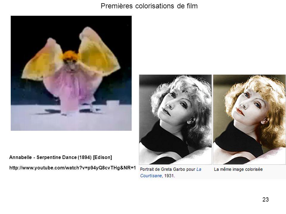 Premières colorisations de film