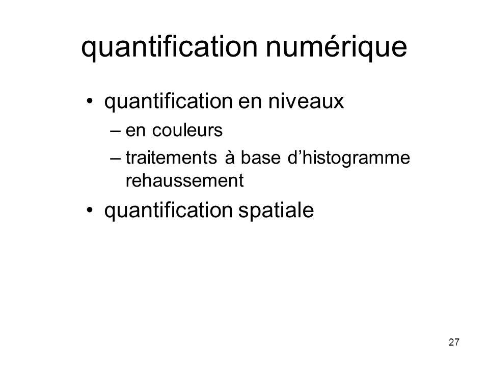 quantification numérique