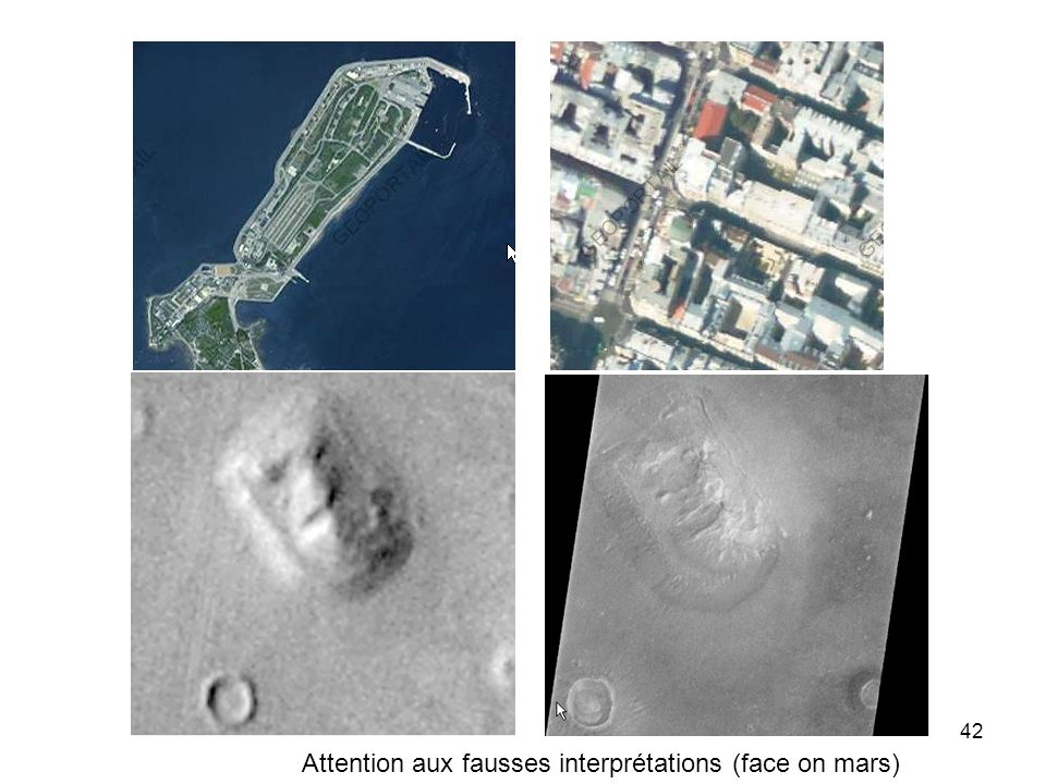 Attention aux fausses interprétations (face on mars)
