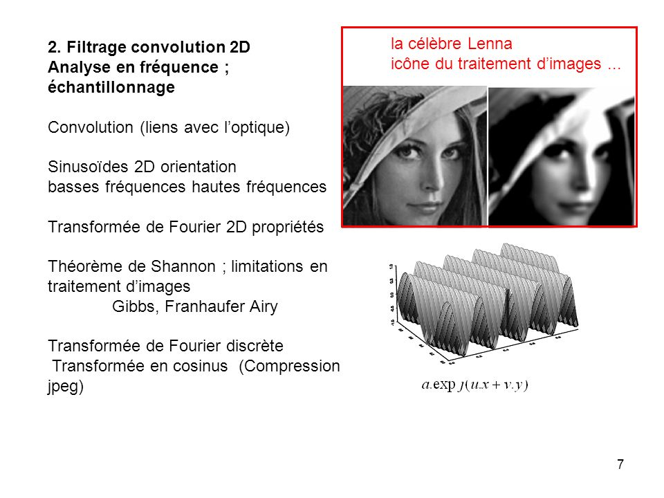 2. Filtrage convolution 2D