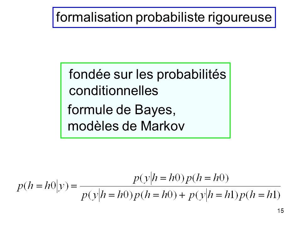 formalisation probabiliste rigoureuse