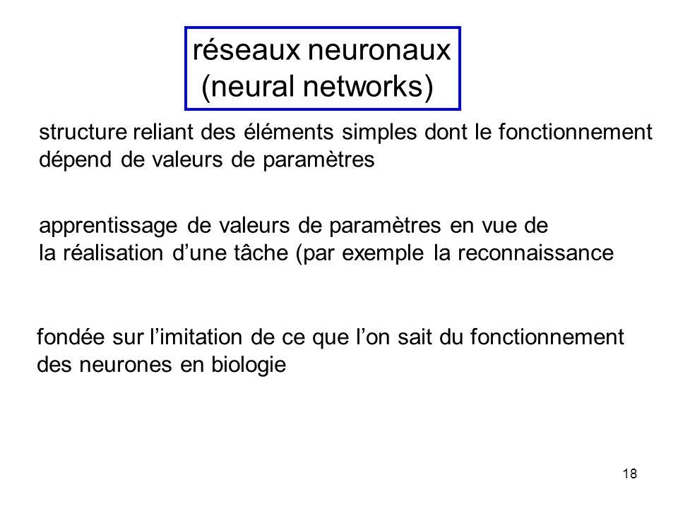 réseaux neuronaux (neural networks)