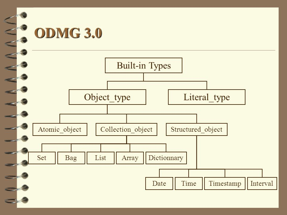 ODMG 3.0 Built-in Types Object_type Literal_type Atomic_object