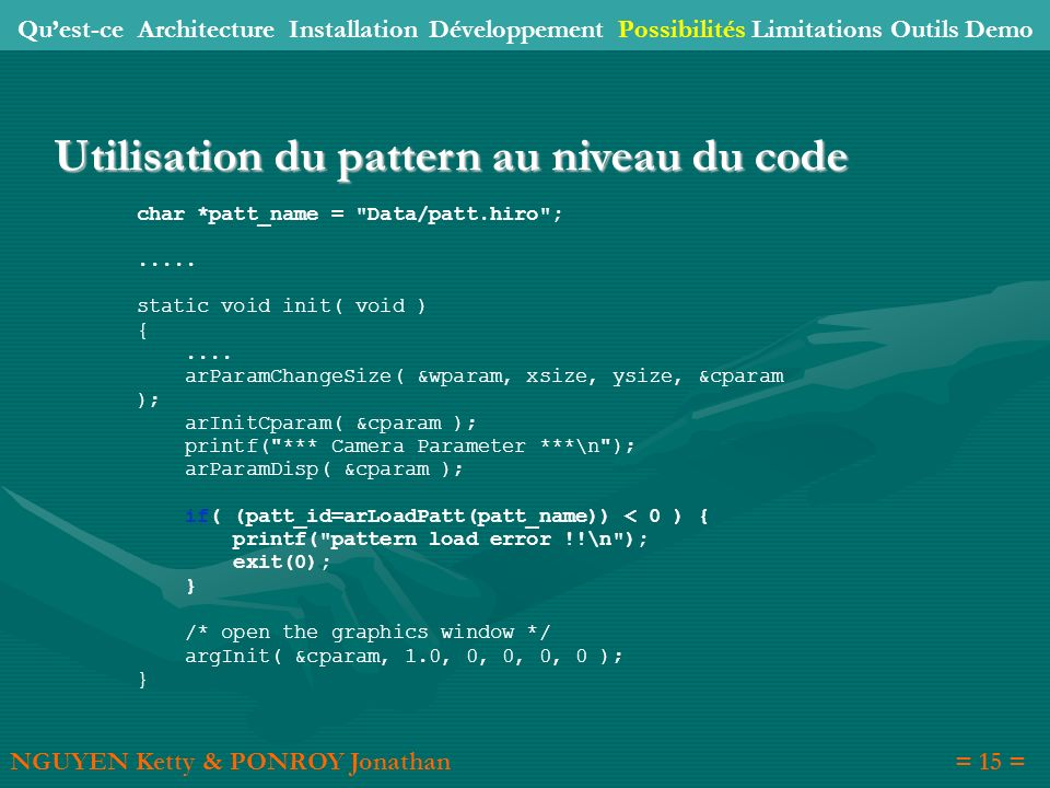 Utilisation du pattern au niveau du code