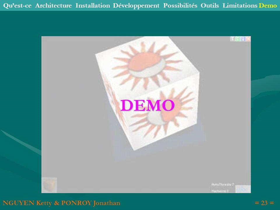 Qu'est-ce Architecture Installation Développement Possibilités Outils Limitations Demo