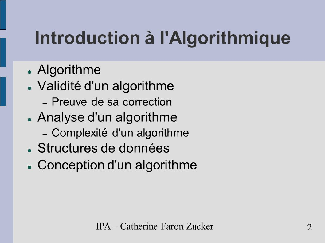 Introduction à l Algorithmique