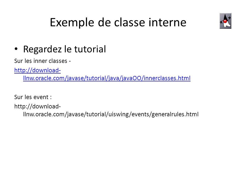 Exemple de classe interne