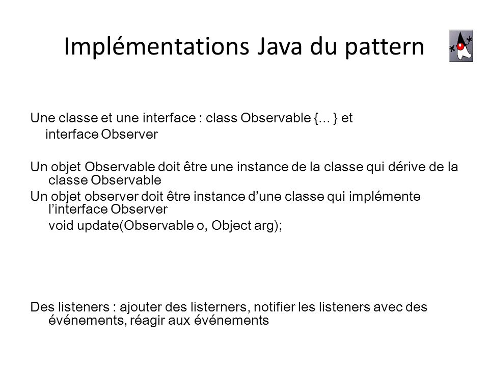 Implémentations Java du pattern
