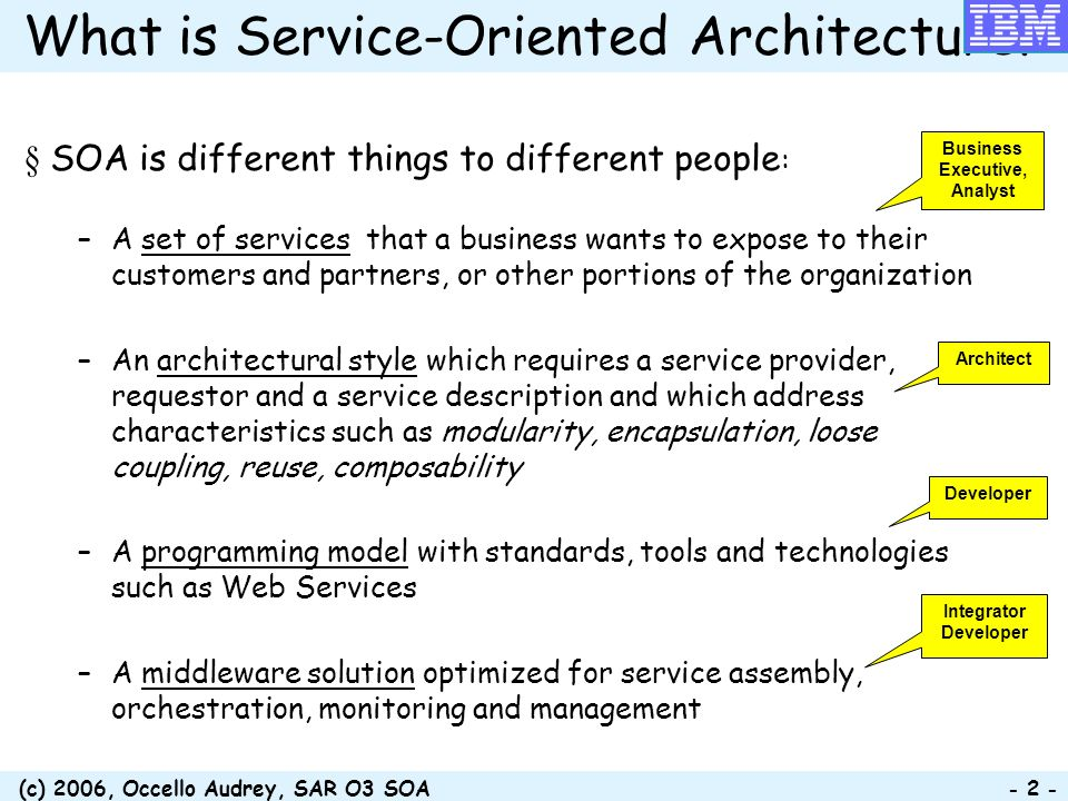 What is Service-Oriented Architecture