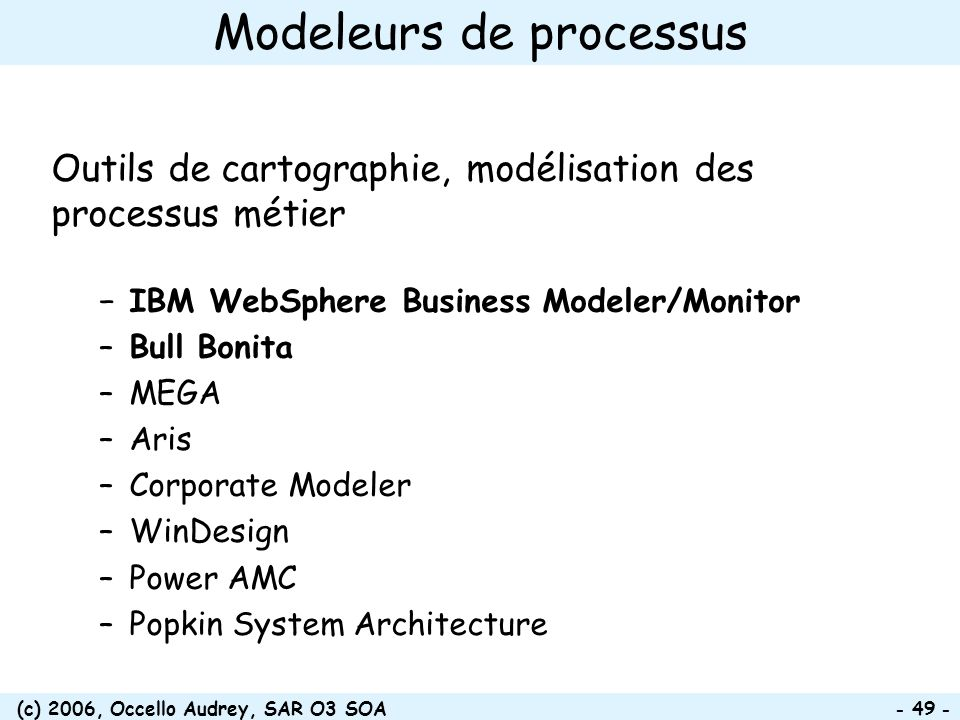 Modeleurs de processus