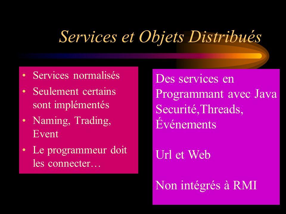 Services et Objets Distribués
