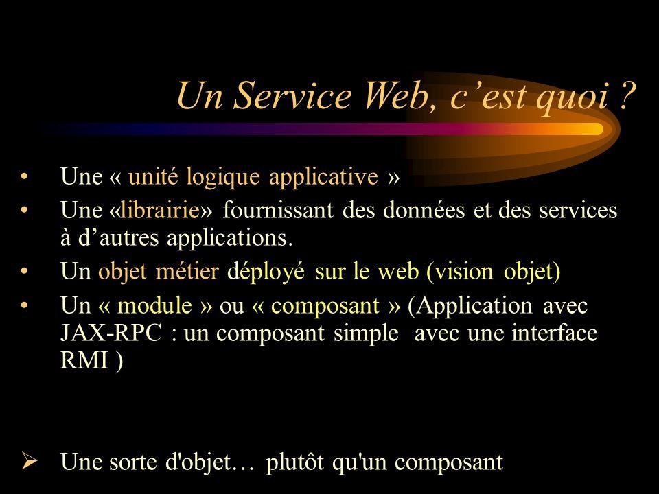 Un Service Web, c'est quoi