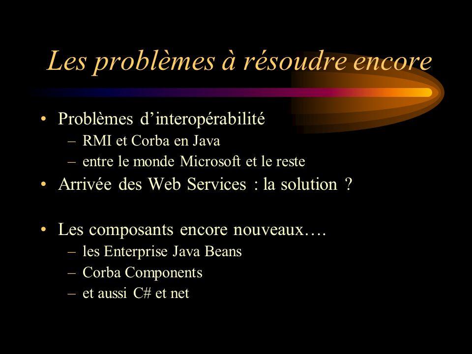 Les problèmes à résoudre encore