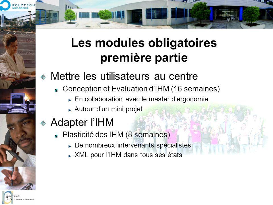 Les modules obligatoires première partie