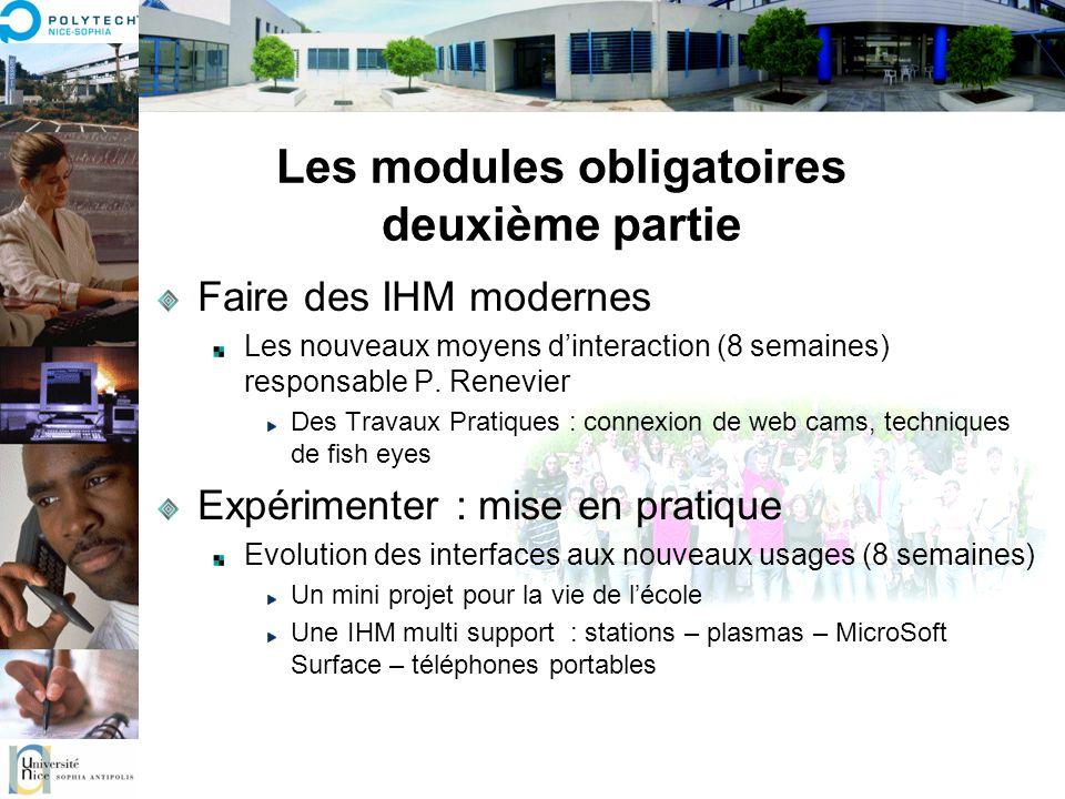 Les modules obligatoires deuxième partie