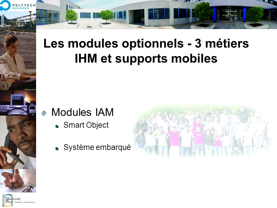Les modules optionnels - 3 métiers IHM et supports mobiles