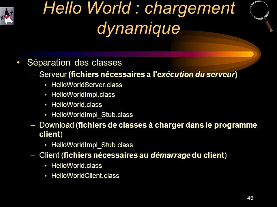 Hello World : chargement dynamique