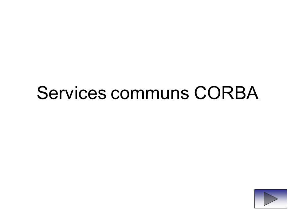 Services communs CORBA