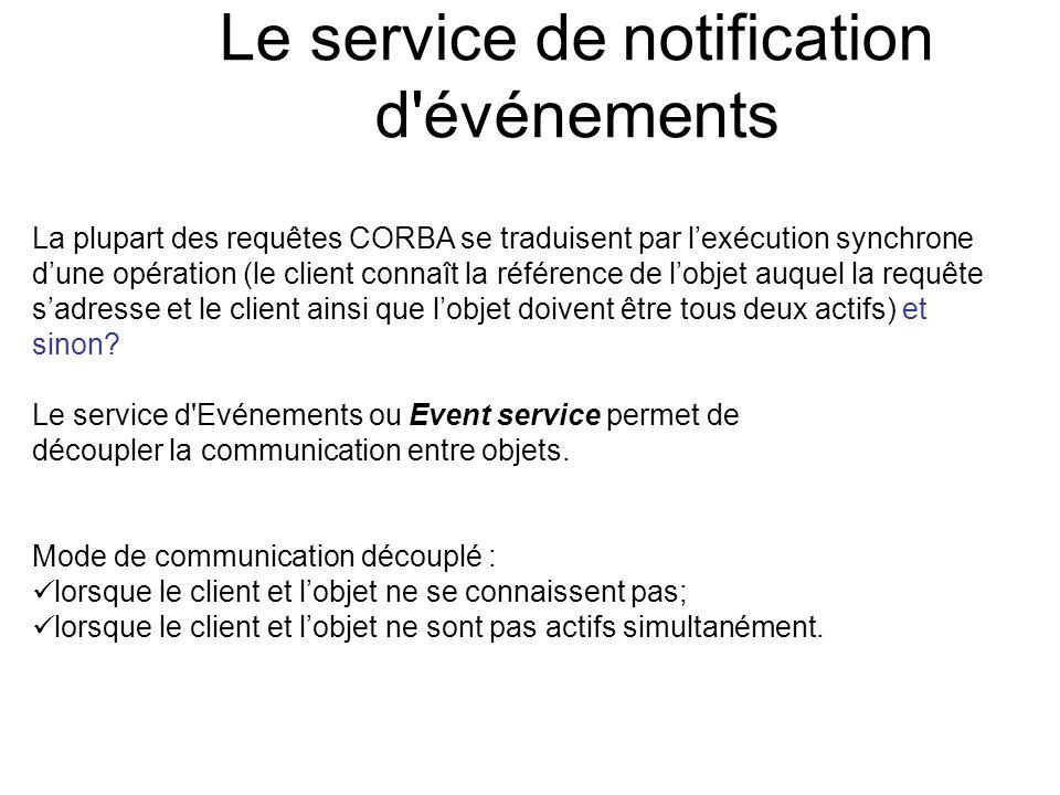 Le service de notification d événements