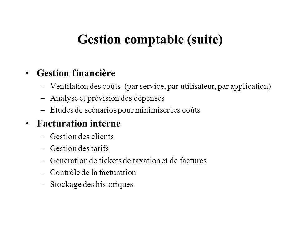 Gestion comptable (suite)