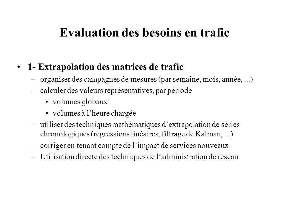 Evaluation des besoins en trafic