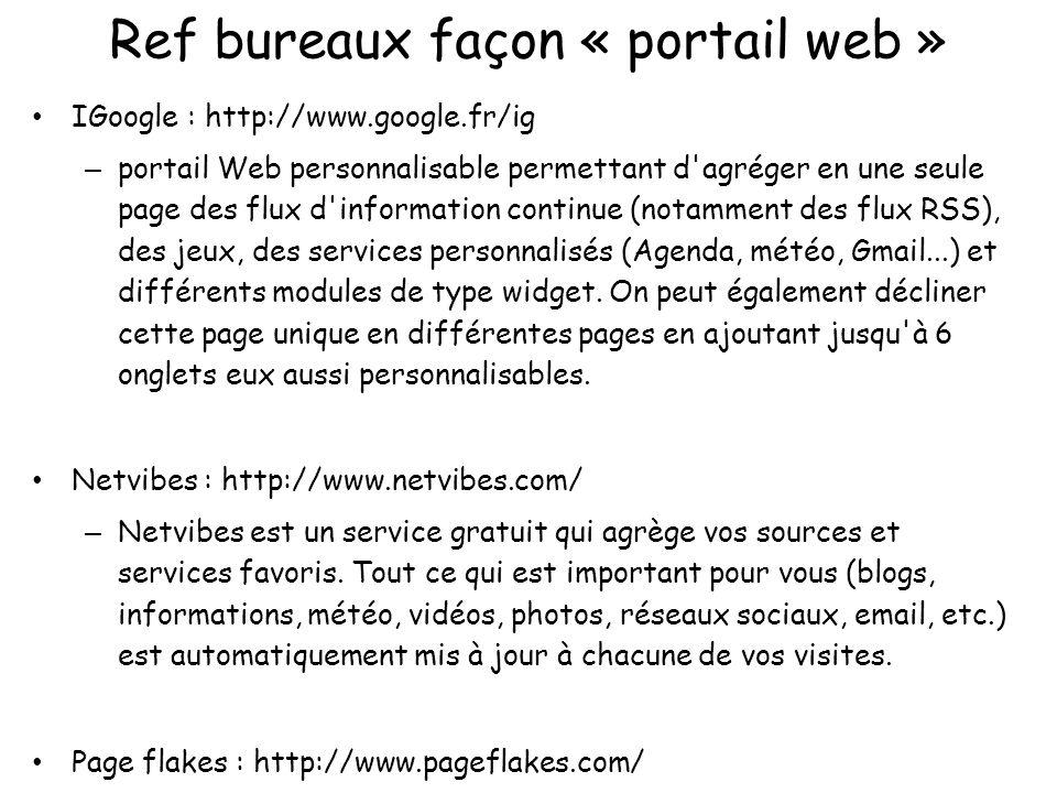 Ref bureaux façon « portail web »