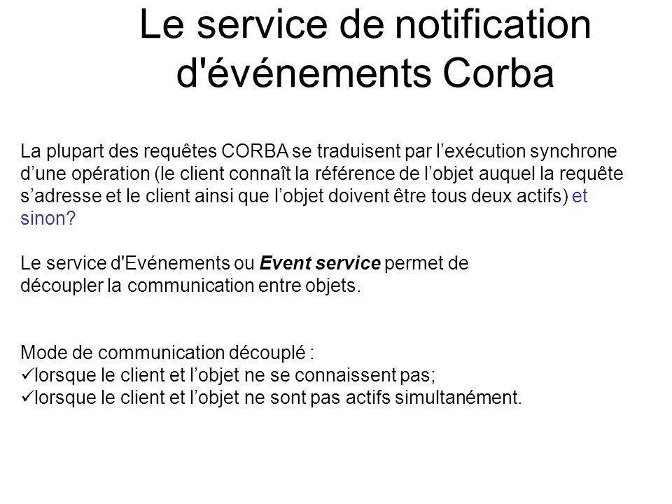 Le service de notification d événements Corba