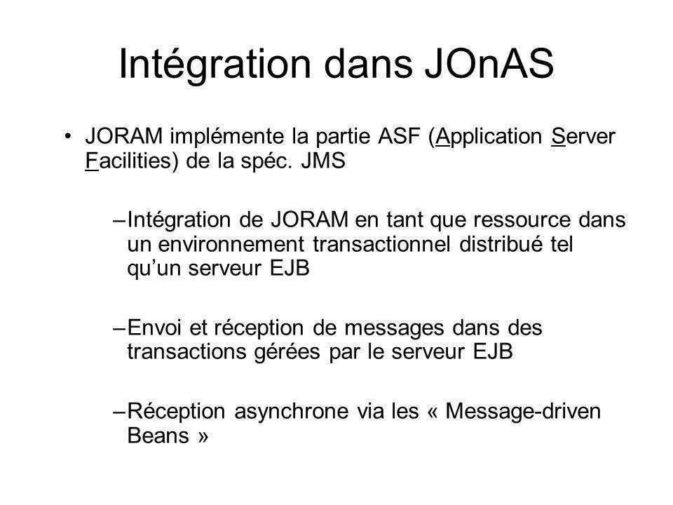 Intégration dans JOnAS