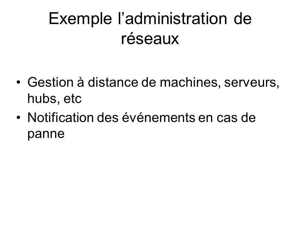 Exemple l'administration de réseaux
