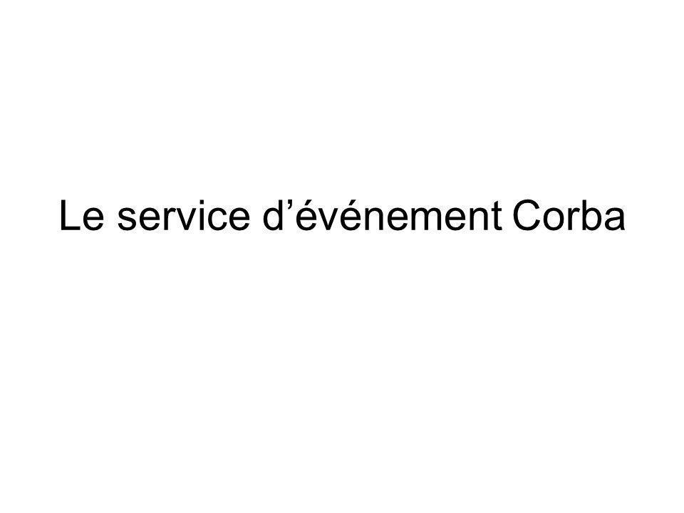 Le service d'événement Corba
