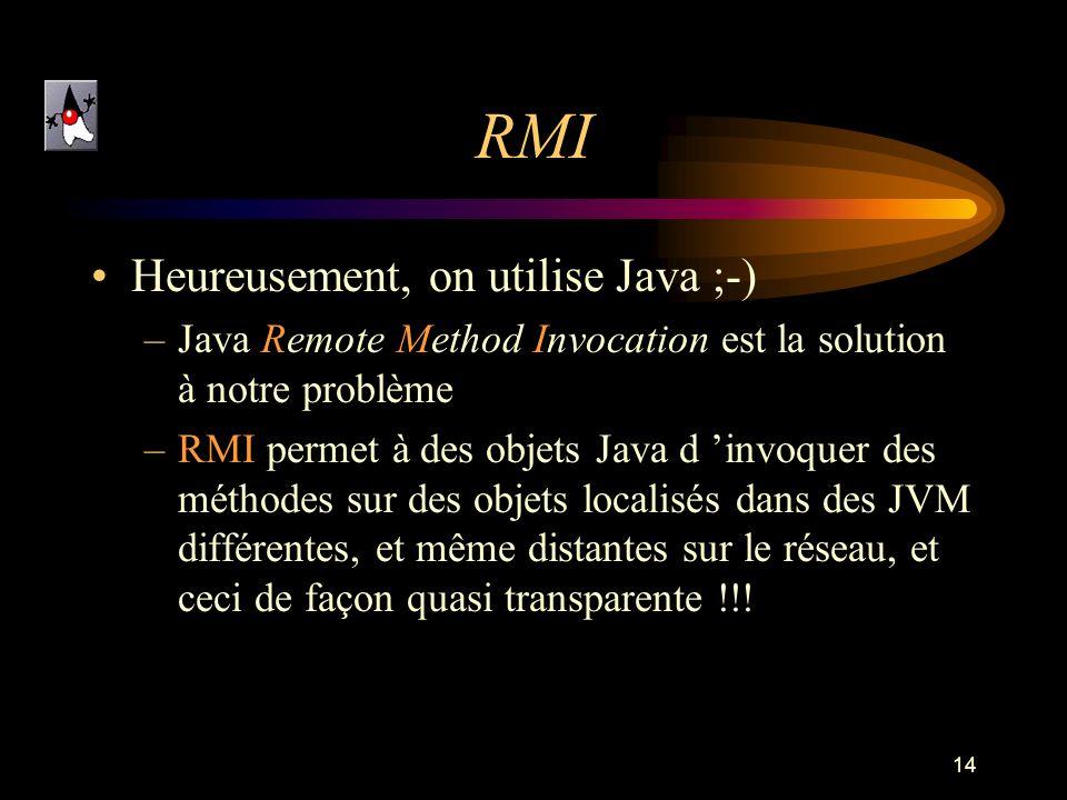 RMI Heureusement, on utilise Java ;-)
