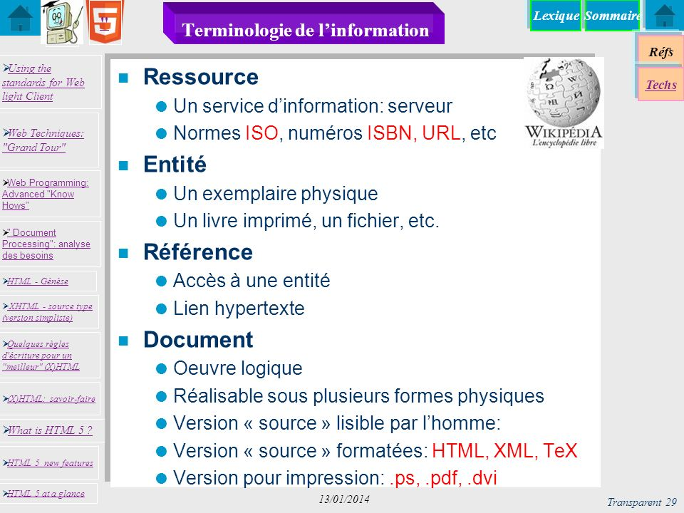 Terminologie de l'information