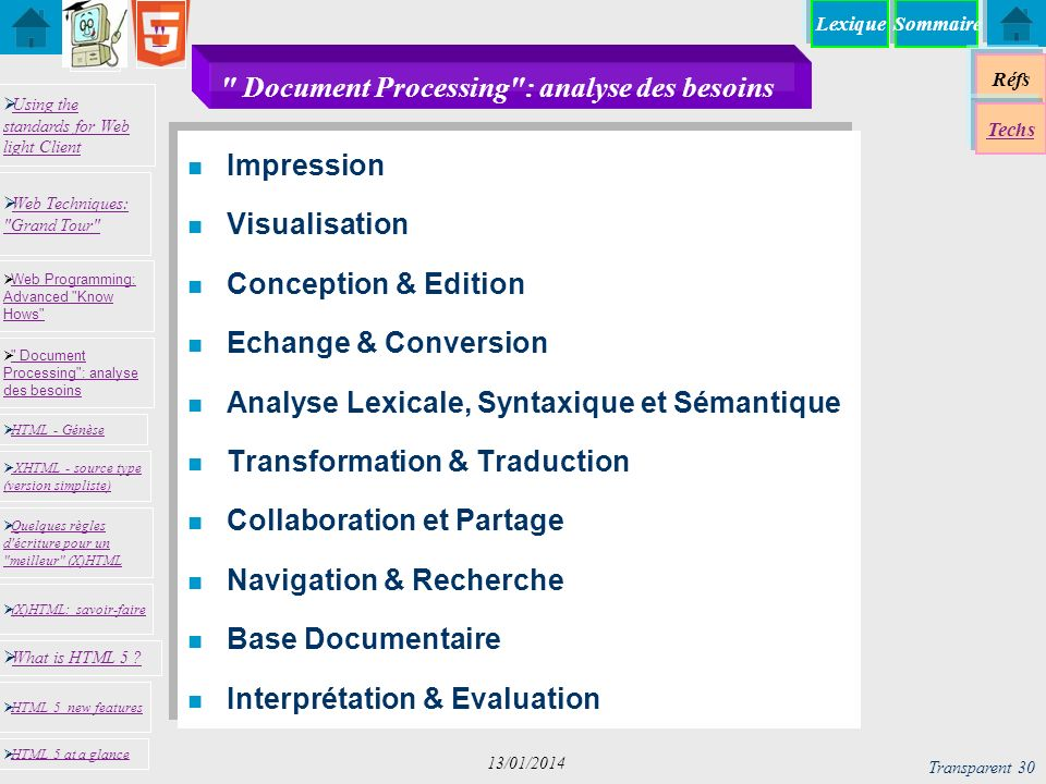 Document Processing : analyse des besoins