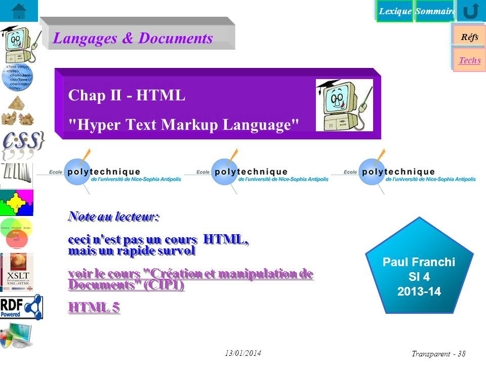 Chap II - HTML Hyper Text Markup Language