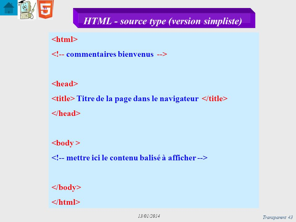 HTML - source type (version simpliste)