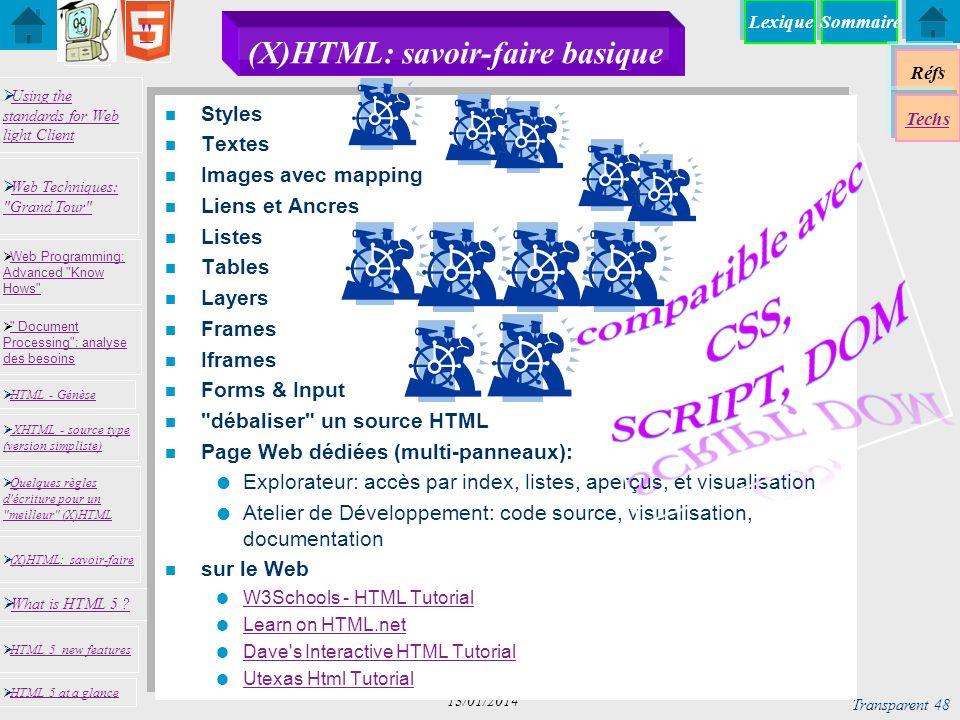 (X)HTML: savoir-faire basique