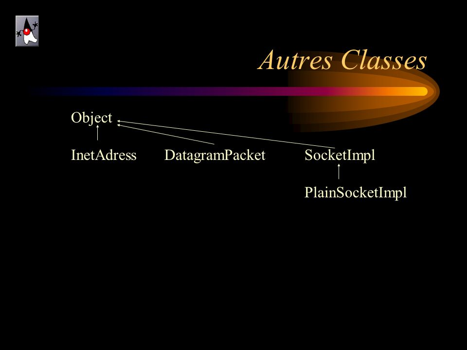 Autres Classes Object InetAdress DatagramPacket SocketImpl
